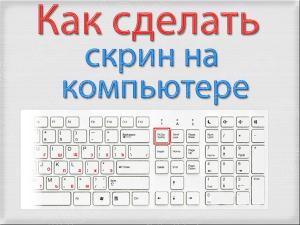 Как сделать скрин экрана монитора на компьютере