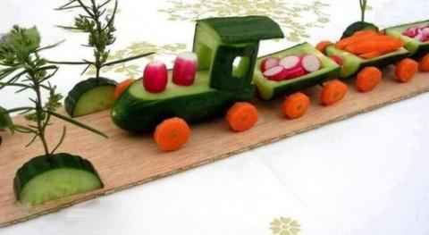 Как сделать осенние оригинальные поделки из овощей и фруктов своими руками на выставку в школу в садик для детей фото и видео