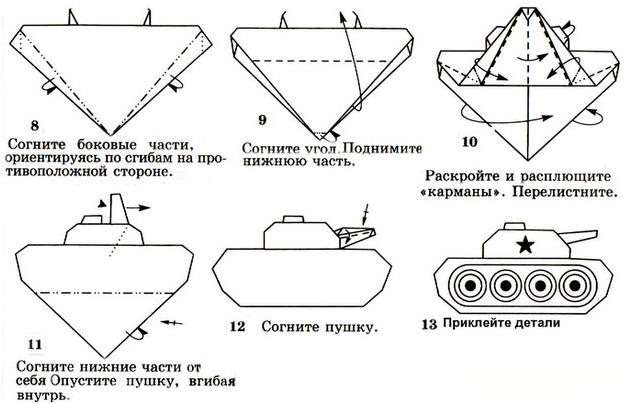 Макет танка из бумаги своими руками схемы