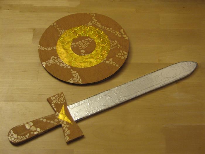 Бумажные мечи своими руками 976