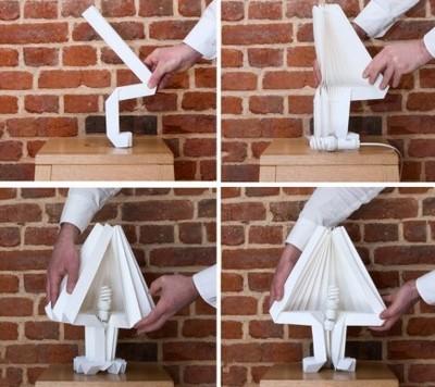 настольная лампы своими руками из бумаги