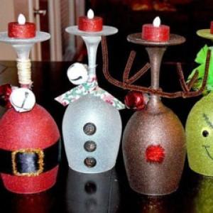 подсвечники из банок или бутылок