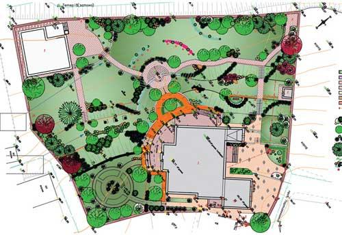 План строительства садовой дорожки