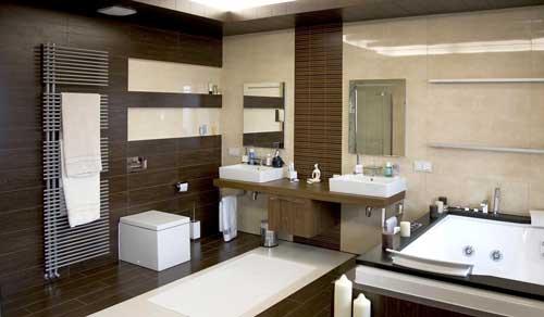 Красивая ванная в восточном стиле