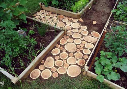 Как сделать дорожки на даче из деревьев