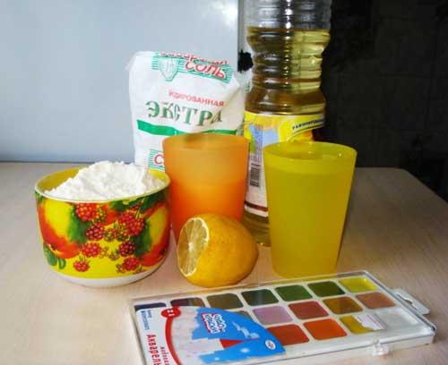 рецепт пластилина