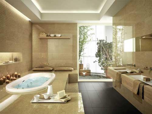Приятная ванная комната