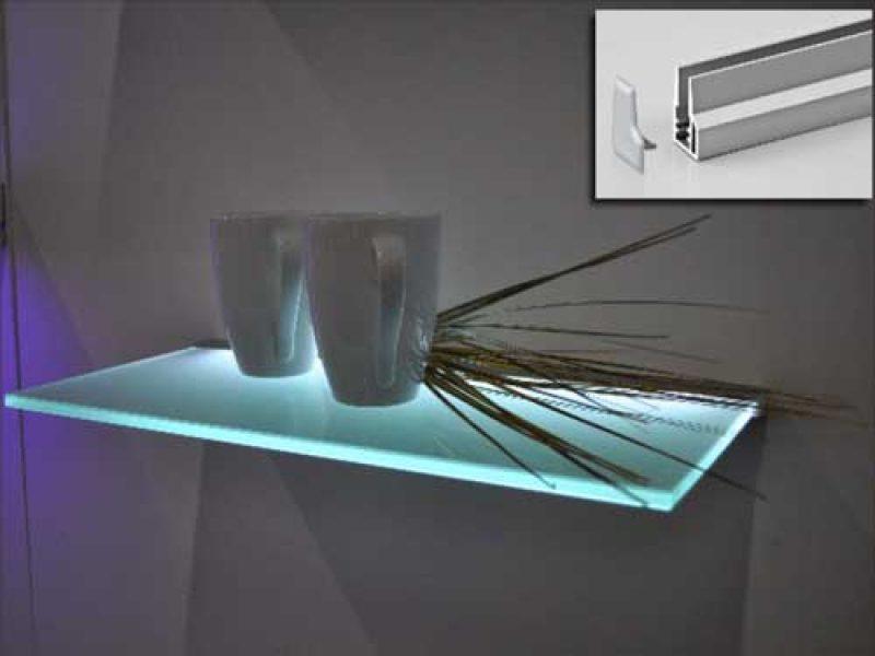 Подсветка для стеклянных полок своими руками 882