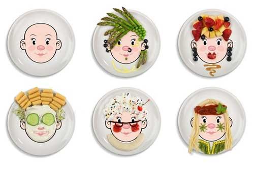 Тарелка для детей веселые