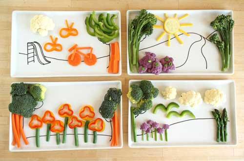 Раскладка еды на тарелке