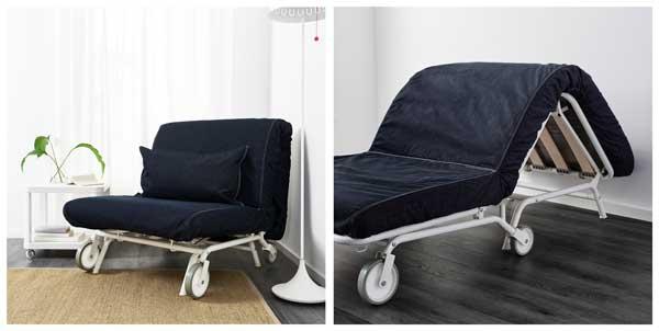 Кресло кровать в тёмном варианте