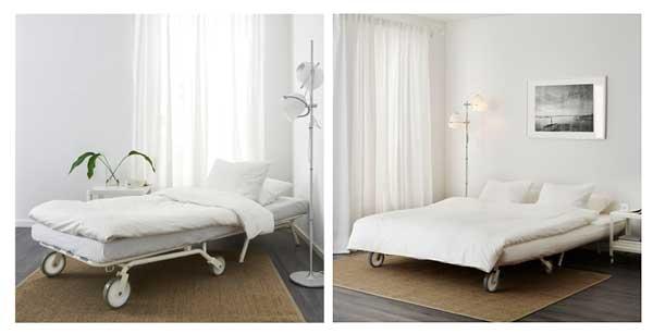Кресло кровать в светлом варианте