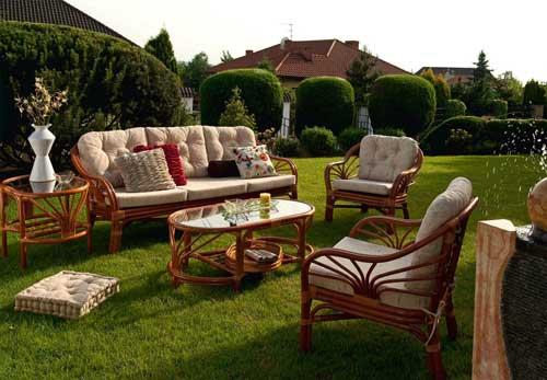Плетённая мебель для дачи
