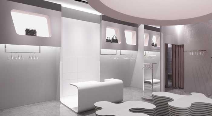 Дизайн торговых помещений в стиле хай-тек