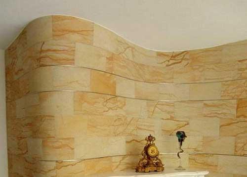 гибкий камень на стене