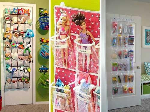 Хранение игрушек на двери