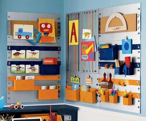 Хранение игрушек на стене