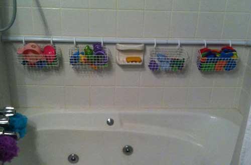 Хранение игрушек в ванной вариант 2