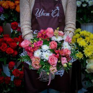 как сделать букет из розы