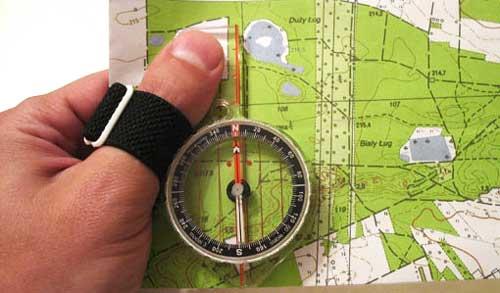 Туристический компас на палец