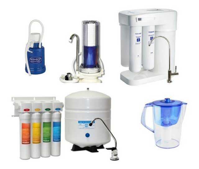 Разновидность очистителей для воды