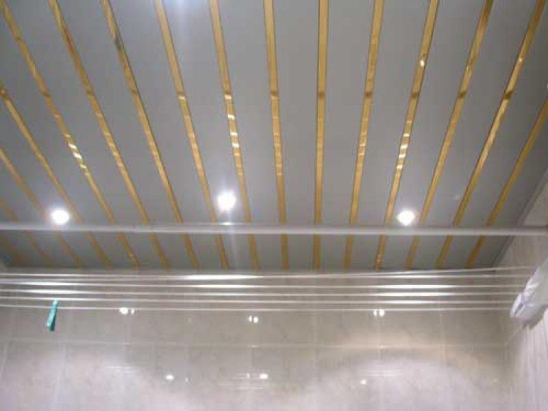Навесной потолок в ванной и как его сделать 502