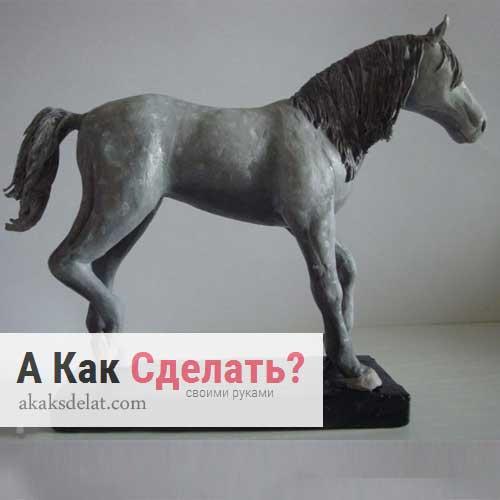 как сделать лошадь из пластилина