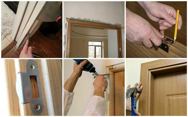 Этапы установки межкомнатных дверей