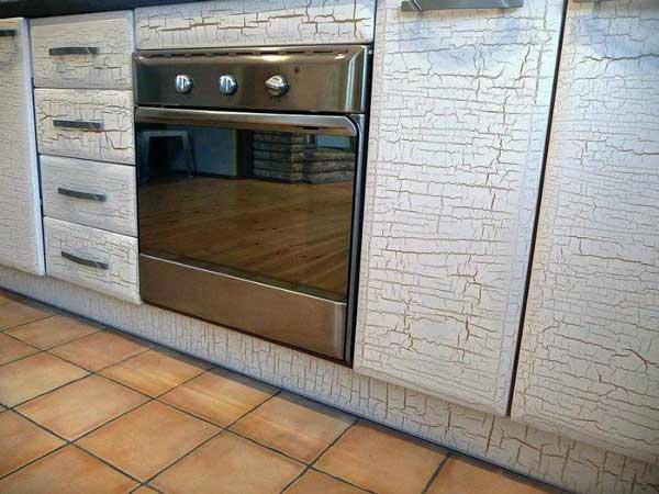 фасады кухни в технике кракелюр