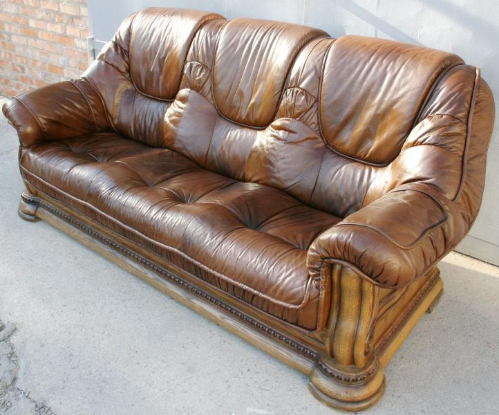 кожа диван