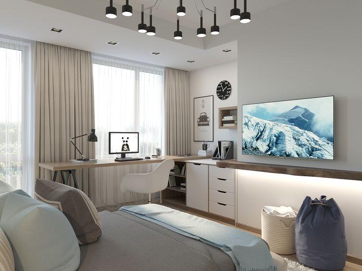 Как обустроить комнату с нестандартными размерами - фото