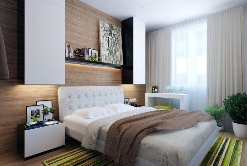 Как визуально увеличить спальню - фото