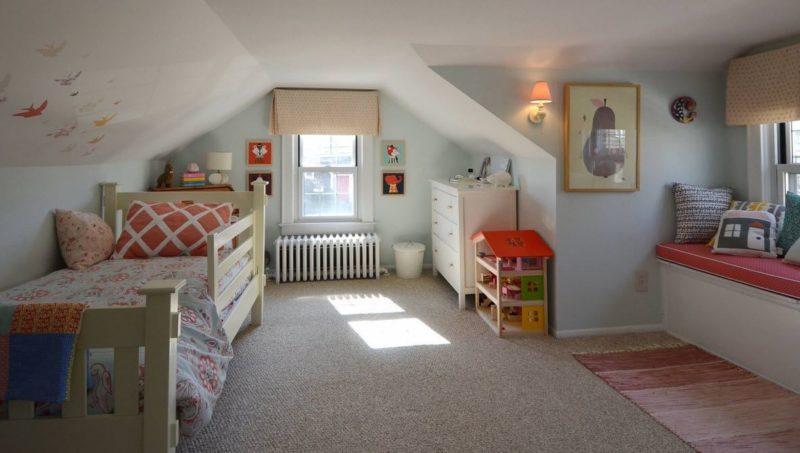 обустройства комнаты на чердаке детская