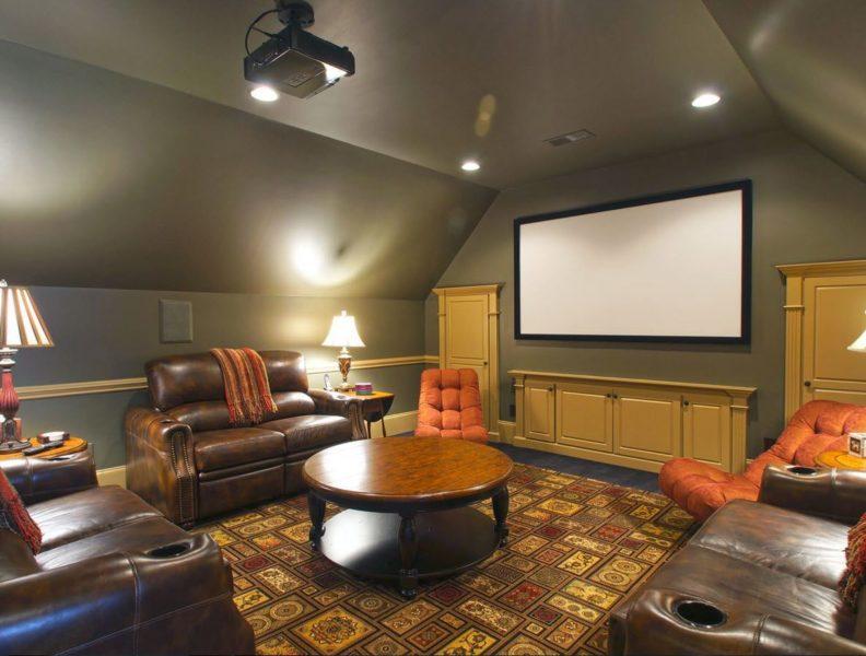 обустройства комнаты на чердаке домашний кинотеатр
