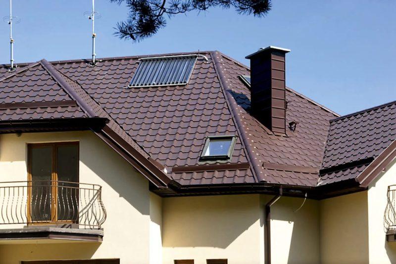 профнастил на крыше