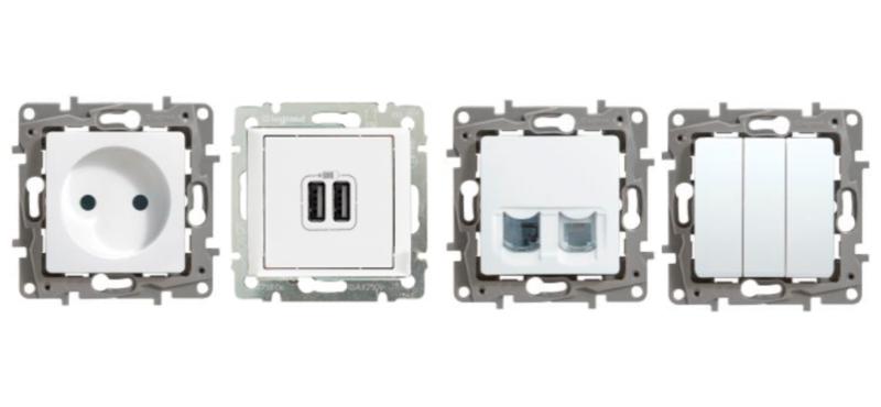 механизмы розеткок и выключателей у Legrand