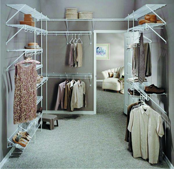 модульная гардеробная комната