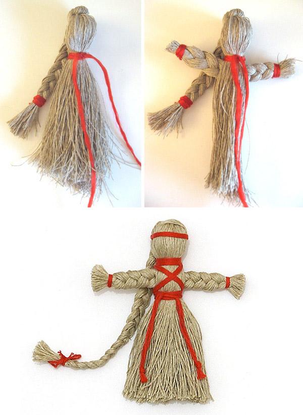 готовая кукла из ниток