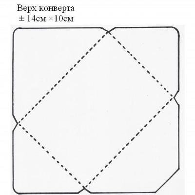 Схема конверта для денег