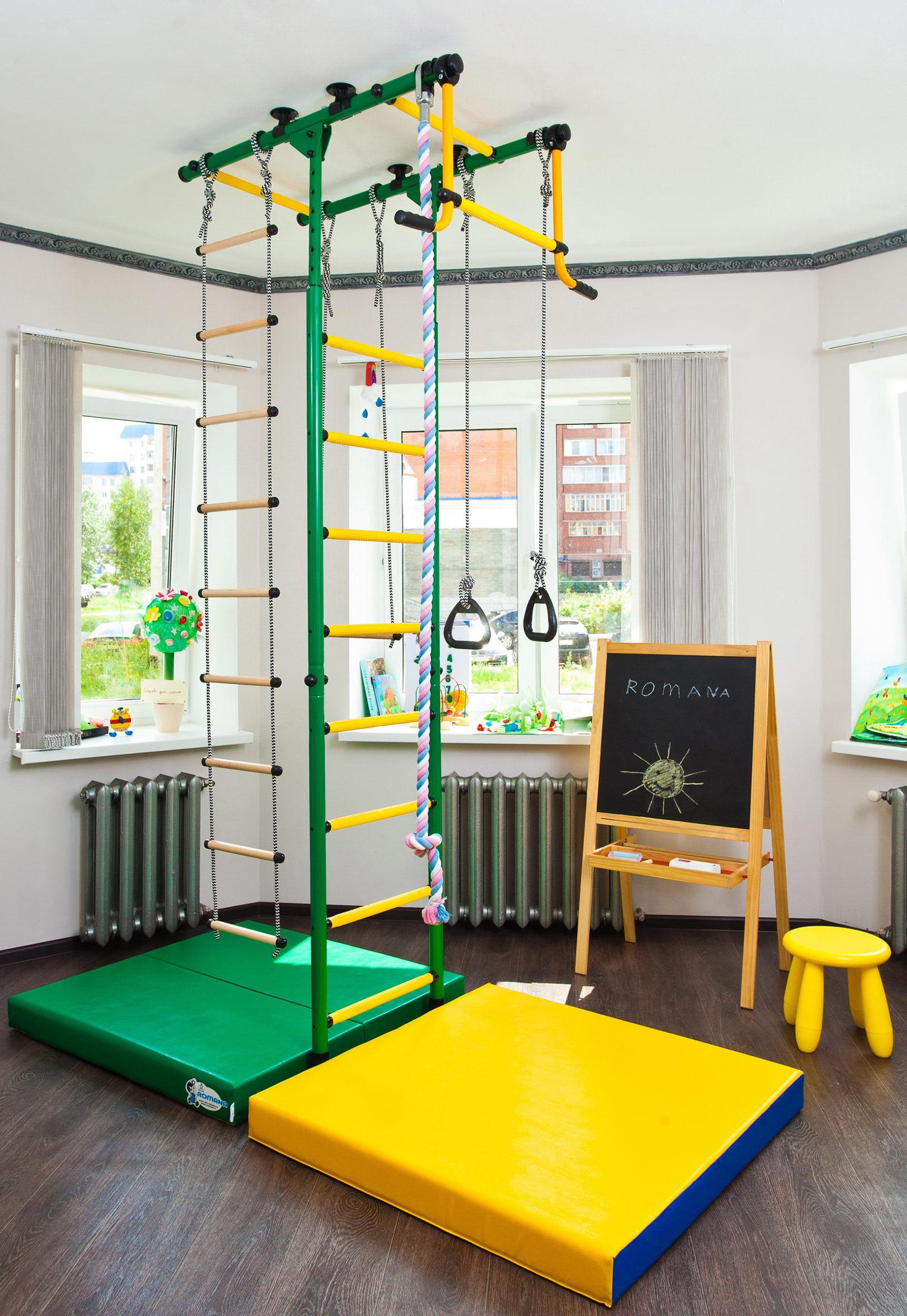 Шведская стенка в интерьере детской комнаты