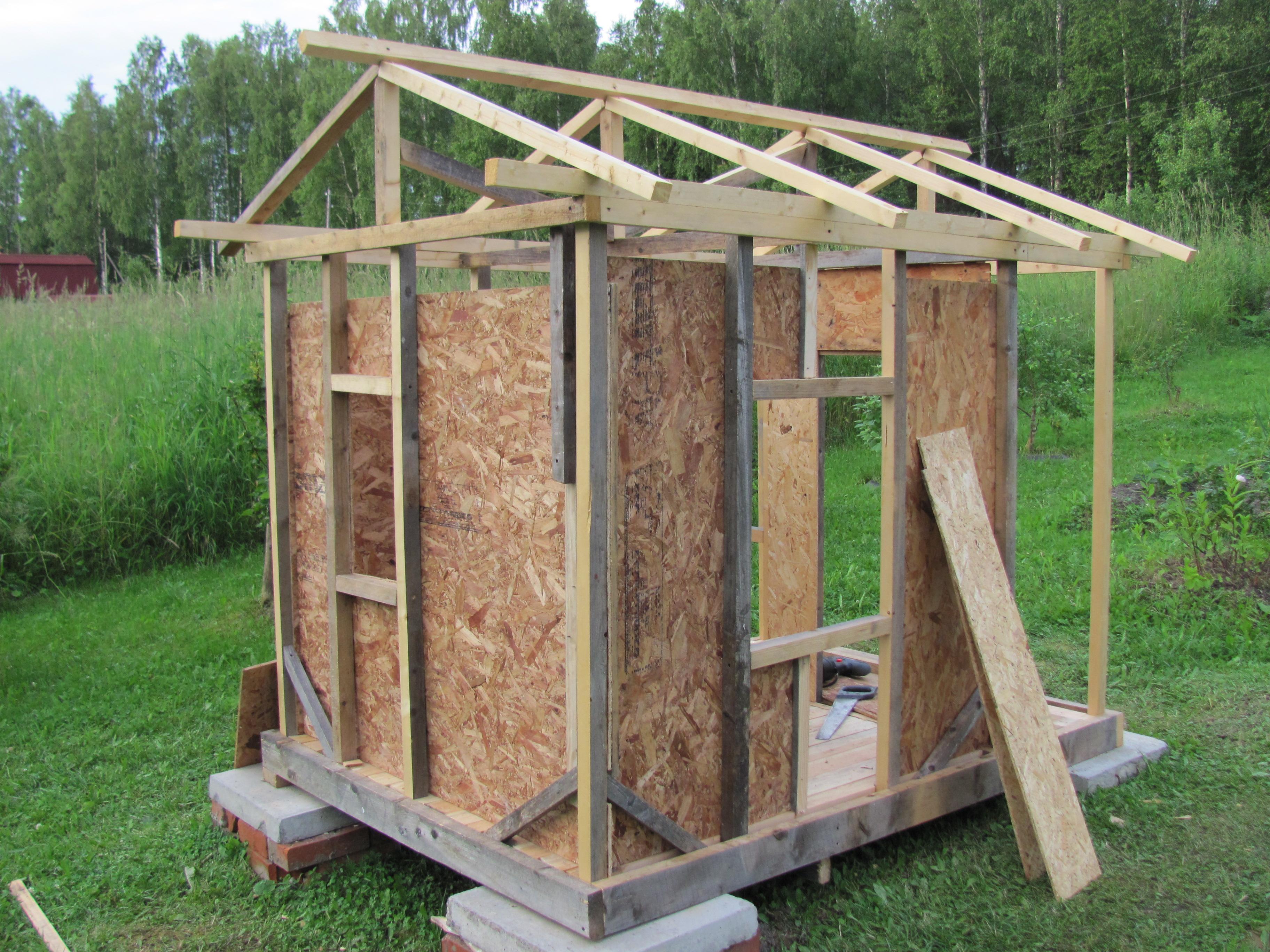 Садовый домик из ОСБ панелей