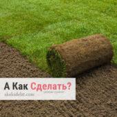 Как стелить рулонный газон — преимущества и особенности
