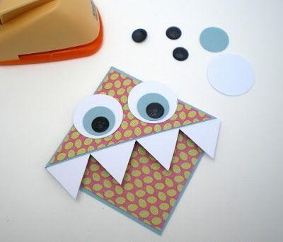 закладка уголок с глазками