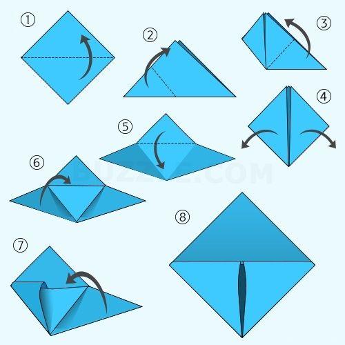 схема закладки уголок
