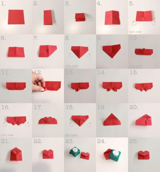 схема закладки-сердечка с квадратной задней стенкой
