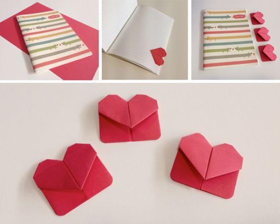 закладка-сердечко с квадратной задней стенкой
