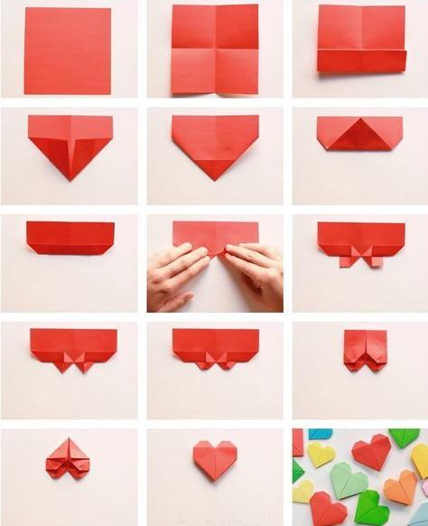закладки сердечки из бумаги