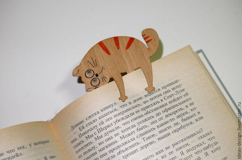 Закладка для книг - котики