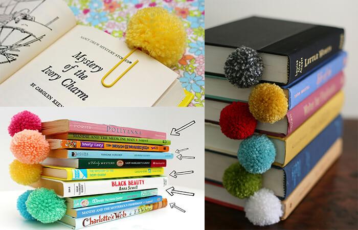 закладка для книг из помпонов