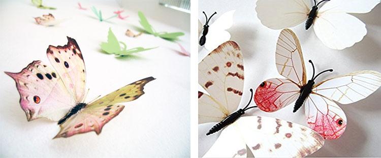 Бабочки на стене - оформление